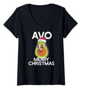 camiseta de navidad con aguacate